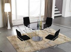 Asian Inspired Dining Room Furniture With Round Table
