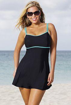 Modest Swimwear - Beach Belle Mint Lingerie Swimdress
