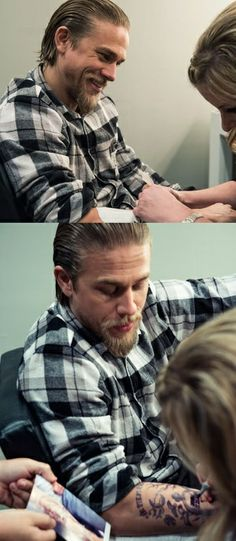 Charlie behind the scenes - Sons of Anarchy