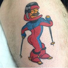 "It's like I'm wearing nothing at all…nothing at all…nothing at all | 27 Tattoos That Prove ""Simpsons"" Fans Are The Greatest On Earth"