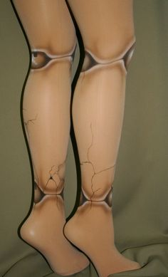 Broken old fashioned ball jointed doll tights by beadborg on Etsy, $40.00