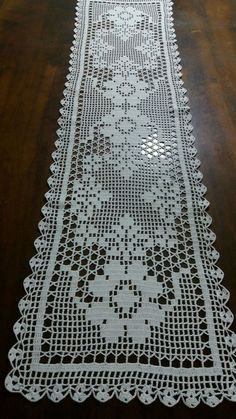ideas crochet patterns filet products for 2019 Crochet Patterns Filet, Crochet Table Runner Pattern, Crochet Borders, Crochet Tablecloth, Lace Doilies, Crochet Doilies, Crochet Lace, Thread Crochet, Crochet Stitches