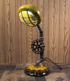 Steampunk Lamp Industrial Machine Age Steam Gauge Unique One-of-a-Kind