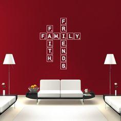 Luxury Scrabble Wall Decal