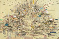 Julie Mehretu, Empirical Construction (Istanbul), 2003. Ink and synthetic polymer paint on canvas, 10' x 15' (304.8 x 457.2 cm). Fund for the Twenty-First Century. © 2012 Julie Mehretu