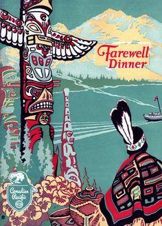 American Indians, Native American, Alaska Summer, Pacific Northwest, Travel Posters, Vintage Designs, Illustration, Image, Travel System