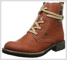Rieker 74620, Damen Stiefel, Rot (brick/beige-braun 38), EU 38 - Stiefel für frauen (*Partner-Link)