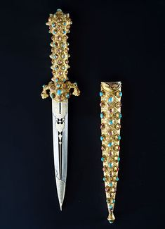 Dagger with scabbard, Ottoman, 2nd Half of the 16th Century, 1617, gift of the Emperor Matthias to Elector Johann Georg I of Saxony.