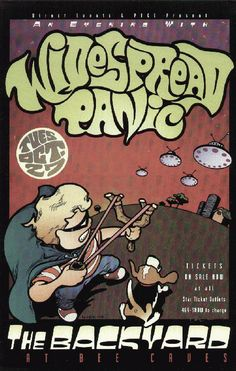 Original concert poster for Widespread Panic live at the Backyard in Austin, TX 1998.  11