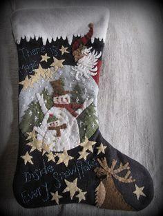 Magic Inside Every Snowflake Stocking PRINTED by cheswickcompany