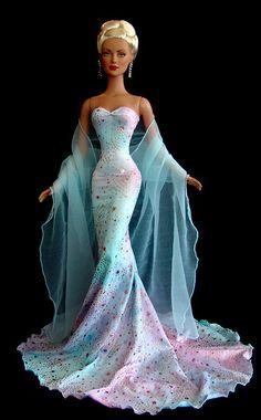 Watercolor Sparkles Barbie