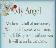 The day my Angel got her wings.My Angel. my heart if full of memories.with pride I speak your name. Though life goes on without you. It will NEVER be the same Viola Lopez.love you Grams and miss you terribly. Miss Mom, Miss You Dad, Pomes, Angels In Heaven, Heavenly Angels, Life Goes On, In Loving Memory, Favorite Quotes, Me Quotes