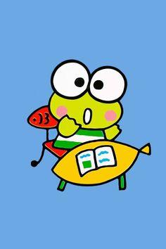 . Keroppi Wallpaper, Cartoon Wallpaper, Kawaii Chibi, Kawaii Anime, Badtz Maru, Funny Frogs, Pochacco, Theme Background, Favorite Cartoon Character