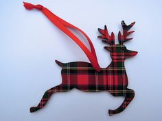 Christmas tree decoration Scottish tartan