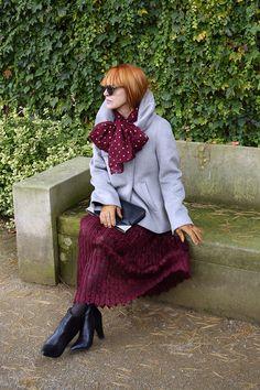 Babie letá: 50+: Čipkovaná sukňa v zimnom outfite