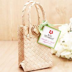 Palm Leaf Favor Bags - 10 pcs