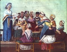 """""""The many faces of the 'tricoteuses'"""" -- An article about the Knitting Women of the French Revolution by Purl up and dye."""
