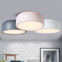 Pastel round ceiling light #60W #black #ceiling-light Bedroom Maybe?