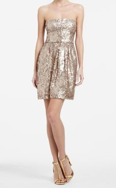 Love this sparkly dress. Although I would style this differently. Let it shine!