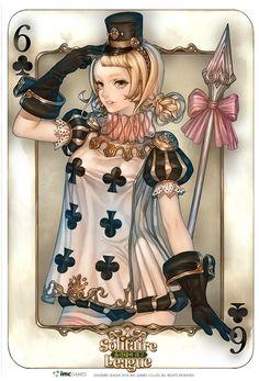 继续 AD Maggi 作品,来套高贵典雅的扑克牌... 来自原画人官方微博 - 微博