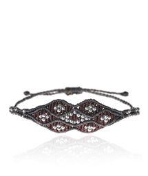 ZOE KOMPITSI Burgundy and Grey Eye Bracelet < NEW