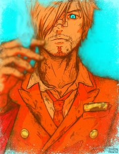 """One Piece - Sanji [no text]"" Posters by Sven from OZ 