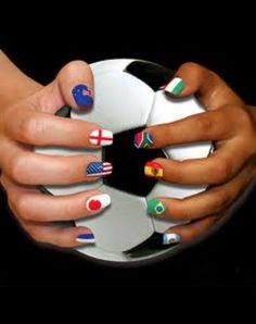 Soccer nails. Gotta do this for the World Cup 2014