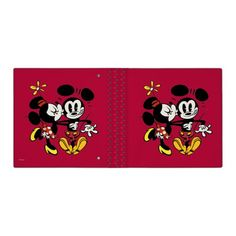 Minnie Kissing Mickey 3 Ring Binder