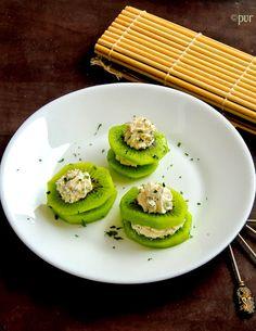 Cheesy Kiwi Canapes