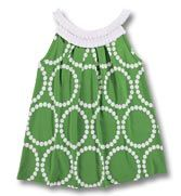 green & white tunic top