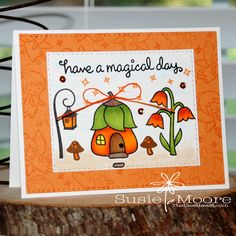 Hello Wednesday Friends!    Here is my card for the current Lawnscaping Challenge . This time Ellen Hutson  is the sponsor  and she is o...