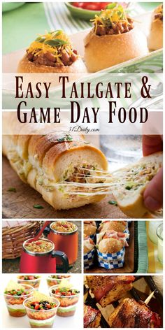 Quick and Easy Tailgating and Game Day Foods   31Daily.com