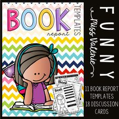 ★★★★ 11 Book Reports to use with ANY Book! ★★★★   This resource contains:  ❤ 11 No-Prep book reports that are designed for your elementary students.      Main Focus:          ★ Title of Book          ★ Author(s)          ★ Illustrator(s)          ★ Main character(s)          ★ Setting          ★ Fiction or Nonfiction          ★ Drawing and writing about their favorite part          ★ Writing about the beginning, middle, and end of the story          ★ Rating          ★ Etc...  ❤ 18…