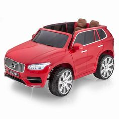 SPORTRAX VOLVO XC90 SUV 12V KIDS RIDE-ON CAR WITH R/C | RED