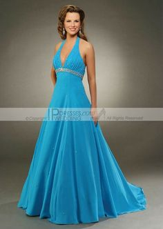 blue formal dresses | Buy Blue Halter Classic Prom Dresses PD0901 , from Garden / Outdoor ...
