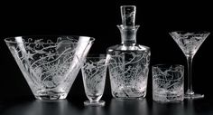 The Atlantis Barware Collection in clear crystal is striking
