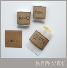 sweet wrappings for a picnic with your love