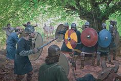"""Carolingian forces are defeat by Saxon 'rebels' in the Süntel Hills in AD 782"", Graham Turner"