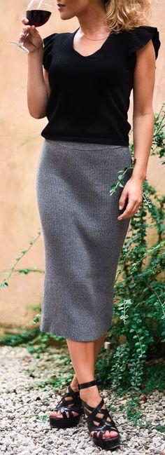 Zara blouse / skirt