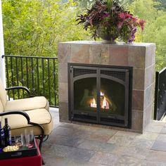 Monessen Arlington Designer Peninsula Direct Vent Fireplace - 36 ...