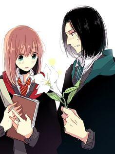Harry Potter: Severus Snape and Lily Evans Potter Harry Potter Fan Art, Harry Potter Anime, Images Harry Potter, Harry Potter Severus Snape, Severus Rogue, Harry Potter Fandom, Harry Potter Universal, Harry Potter World, Hermione