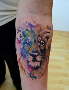 Most popular tags for this image include: lion color leon and tattoo Angst Tattoo, Fear Tattoo, Taboo Tattoo, Tattoo Pain, Wolf Tattoos, Animal Tattoos, Tatoos, Tatuaje No Fear, Unique Tattoos