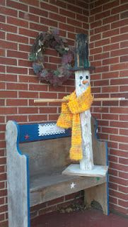 Snowman Wooden Fence Post Handmade Pinterest Wooden