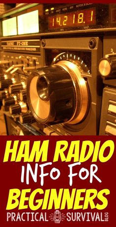 Great info about ham radios for beginners. Everything you need to know #Prepperbeginner