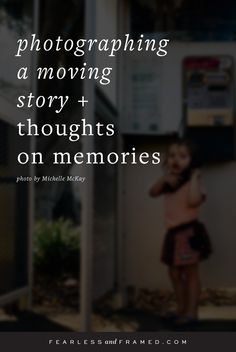 When was the last time you thought about the reason WHY you photograph living memories? This beautifully written post is just another example of why documentary photography is so meaningful and important.