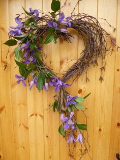 Twig heart with clematis an alternative to red roses