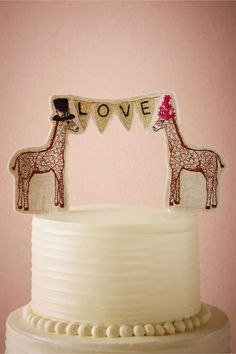 Lovesome Giraffes Cake Topper in Décor Cake Accessories at BHLDN Our Wedding, Dream Wedding, Wedding Ideas, 2017 Wedding, Wedding Things, Wedding Ceremony, Wedding Stuff, Wedding Planner, Wedding Flowers