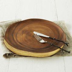 Wood Slice Charger #westelm