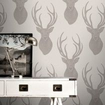 Rasch Stag Taupe Glitter Wallpaper Inspires Wall Art - http://godecorating.co.uk/rasch-stag-taupe-glitter-wallpaper/
