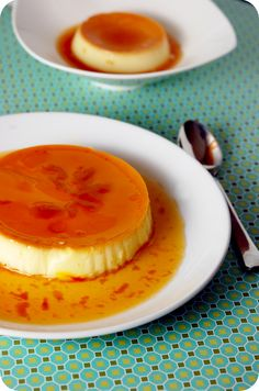 Saffron Cream Caramel _ This version has a Middle Eastern influence with the addition of saffron, cardamom and #rosewater, producing a very tempting and exotic balance of flavors.